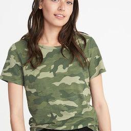 EveryWear Slub-Knit Camo Tee for Women | Old Navy US
