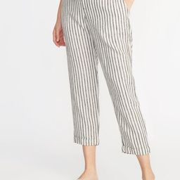 Mid-Rise Linen-Blend Cropped Pants for Women | Old Navy US