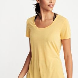 Relaxed Cutout-Back Performance Tee for Women   Old Navy US