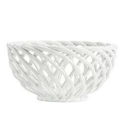Marguerite Ceramic Basketweave Serve Bowl   Pottery Barn (US)