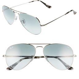 58mm Aviator Sunglasses | Nordstrom