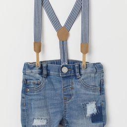Denim Shorts with Suspenders | H&M (US)