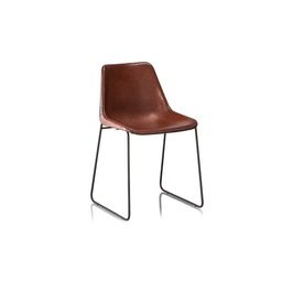 Hudson Genuine Leather Upholstered Dining Chair | Wayfair North America