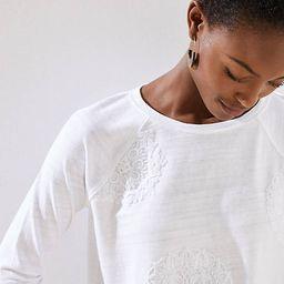 Lace Embroidered Sweatshirt   LOFT