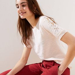 Lacy Sweater Tee | LOFT