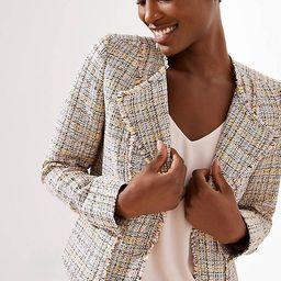 Frayed Tweed Jacket | LOFT