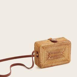 Straw Detail Box Bag | SHEIN