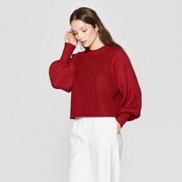 Women's Long Raglan Sleeve Pullover Sweater - Prologue™ Red | Target