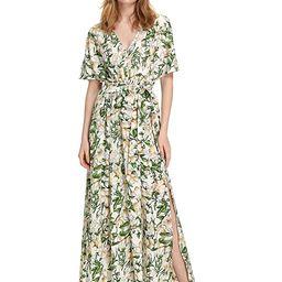 Milumia Women's Boho Split Tie-Waist Vintage Print Maxi Dress   Amazon (US)