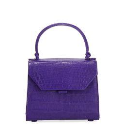 Nancy Gonzalez Crocodile Small Flap Top-Handle Crossbody Bag | Neiman Marcus