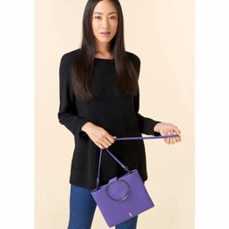 Le Pouch Leather Ring Handle Crossbody Bag | Nordstrom