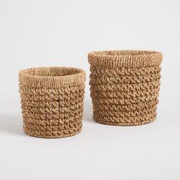 Natural Hyacinth Curled Weave Harlow Baskets | World Market