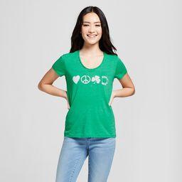 Women's St. Patrick's Day Clover Printed Short Sleeve V-Neck Graphic T-Shirt - Grayson Threads (J... | Target