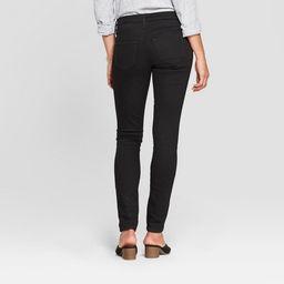 Women's Mid-Rise Slit Knee Skinny Jeans - Universal Thread™ Black Wash | Target