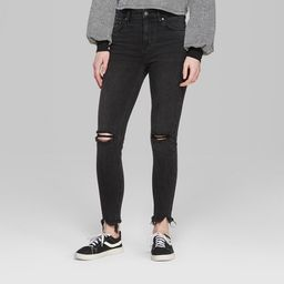 Women's High-Rise Skinny Jeans - Wild Fable™ Black | Target