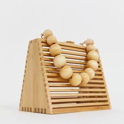 ASOS DESIGN triangular bamboo beaded handled bag with detachable cross body strap | ASOS US