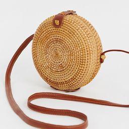 ASOS DESIGN Emma circular rattan cross body bag | ASOS US