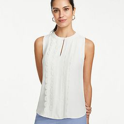 Scalloped Lace Trim Shell | Ann Taylor (US)