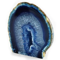 """Fossil Gift Shop 2-3"""" Agate Geode - Blue   Amazon (US)"""