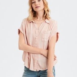AE Short Sleeve Striped Button-Down Shirt   American Eagle Outfitters (US & CA)