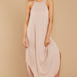 Close Your Eyes Beige Maxi Dress   Red Dress