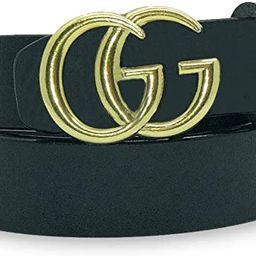 Letter Leather Belt Gold G Buckle Strap for Women Pants Jeans Shorts Dresses   Amazon (US)