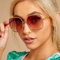 Undercover Gold Peach Sunglasses   Red Dress