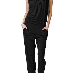 Linsery Women's Casual Loose Spaghetti Strap Overall Jumpsuit Baggy Harem Pant Jumper | Amazon (US)