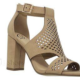 MVE Shoes Women's Open Toe Cut Out Chunky Heel Sandal | Amazon (US)
