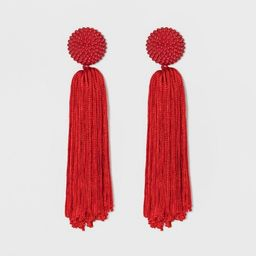 SUGARFIX by BaubleBar Tassel Drop Earrings with Beaded Studs | Target