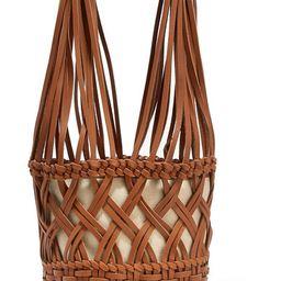 HEREU       Anna woven leather bucket bag $500 | Net-a-Porter (US)