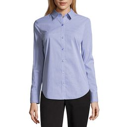 Worthington Womens Long Sleeve Modern Fit Button-Front Shirt | JCPenney