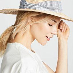 Mixed Raffia Continental Hat | Shopbop