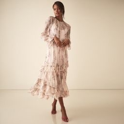 Amber Pink Floral Printed Midi Dress – REISS   Reiss (UK)