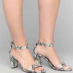 Snake Skin Tall Block Heel Sandal | Lane Bryant (US)