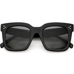 zeroUV - Retro Oversized Square Sunglasses for Women with Flat Lens 50mm   Amazon (US)