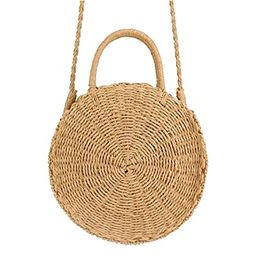 Airrioal Women Straw Crossbody Bag Summer Beach Weave Shoulder Bag | Amazon (US)