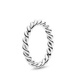 Intertwined Twist Stackable Ring   Pandora (US)