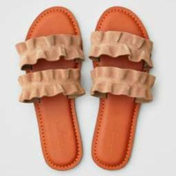 AE Double Ruffle Strap Sandal | American Eagle Outfitters (US & CA)