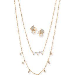 Tai Cubic Zirconia Opal Earrings & Necklace Set   Neiman Marcus
