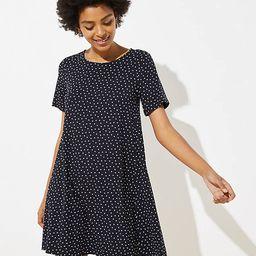Petite Dotted Short Sleeve Swing Dress | LOFT
