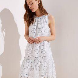 Tiered Eyelet Dress | LOFT