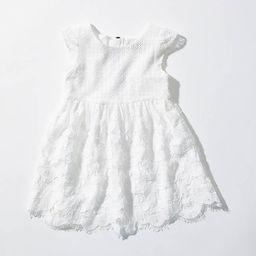LOFT Littles Lace Dot Dress | LOFT