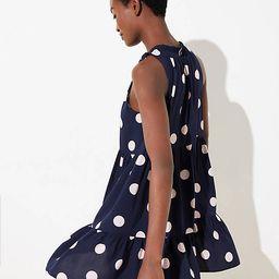 Dot Tiered Swing Dress | LOFT