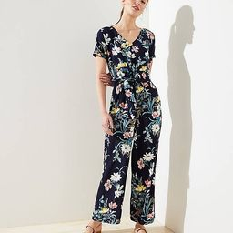 https://www.loft.com/bouquet-short-sleeve-tie-waist-jumpsuit/506796?skuId=27443767&defaultColor=0473 | LOFT