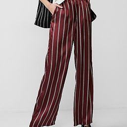 mid rise stripe wide leg pant   Express