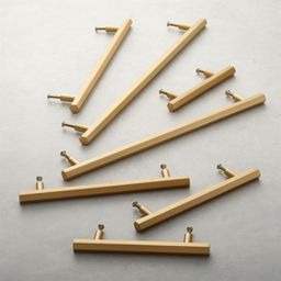 hex brushed brass handles | CB2