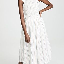 Smocked Stripe Midi Dress | Shopbop