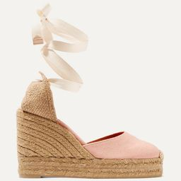 Carina 80 canvas wedge espadrilles   Net-a-Porter (Global excpt. US)