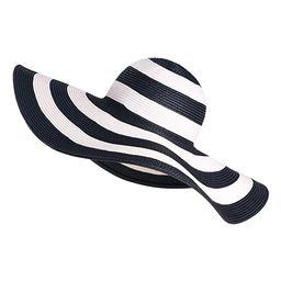 Floppy Wide Brim Straw Hat Women Summer Beach Cap Sun Hat | Amazon (US)